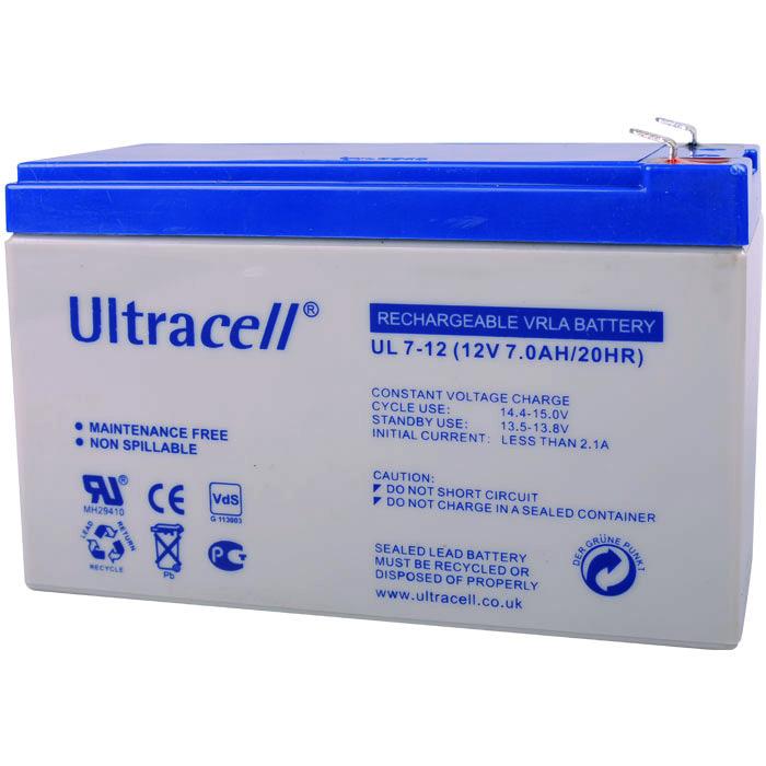 Ultracell UL7-12 Επαναφορτιζόμενη Μπαταρία Μολύβδου 12 Volt / 7 Ah