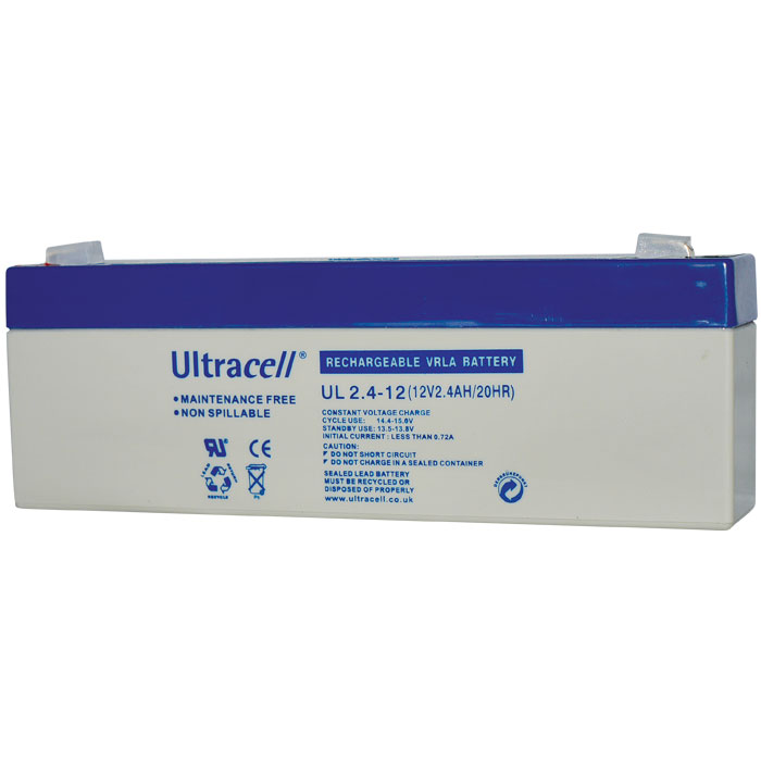 Ultracell UL2.4-12 Επαναφορτιζόμενη Μπαταρία Μολύβδου 12 Volt / 2,4 Ah