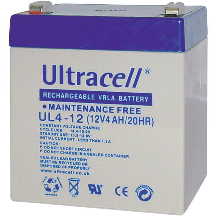 Ultracell UL4-12 Επαναφορτιζόμενη Μπαταρία Μολύβδου 12 Volt / 4 Ah