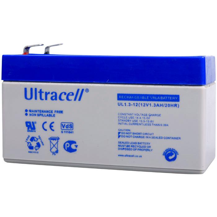 Ultracell UL1.3-12 Επαναφορτιζόμενη Μπαταρία Μολύβδου 12 Volt / 1,3 Ah