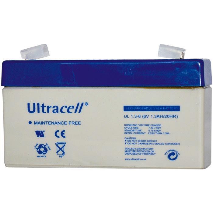 Ultracell UL1.3-6 Επαναφορτιζόμενη Μπαταρία Μολύβδου 6 Volt / 1,3 Ah