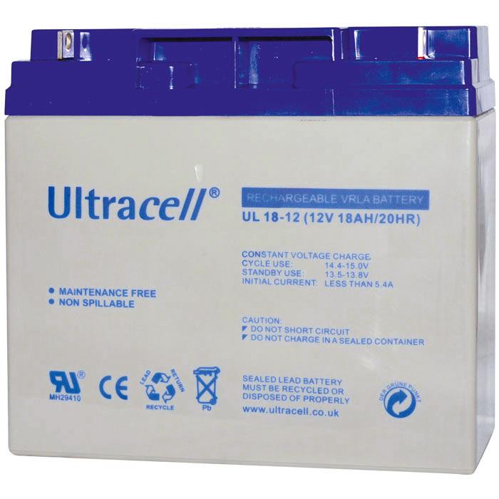 Ultracell UL18-12 Επαναφορτιζόμενη Μπαταρία Μολύβδου 12 Volt / 18 Ah