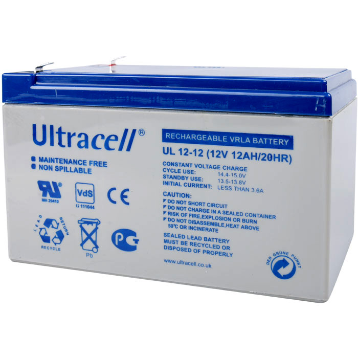 Ultracell UL12-12 Επαναφορτιζόμενη Μπαταρία Μολύβδου 12 Volt / 12 Ah