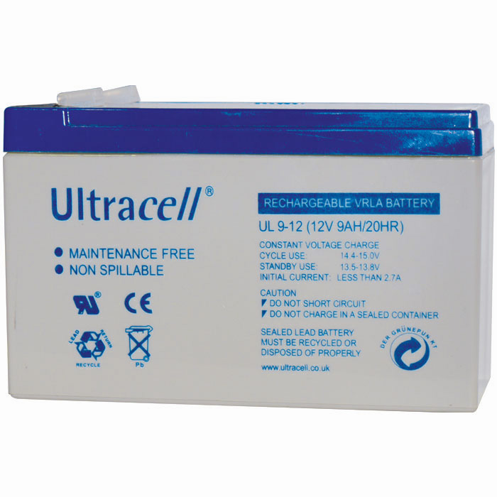Ultracell UL9-12 Επαναφορτιζόμενη Μπαταρία Μολύβδου 12 Volt / 9 Ah