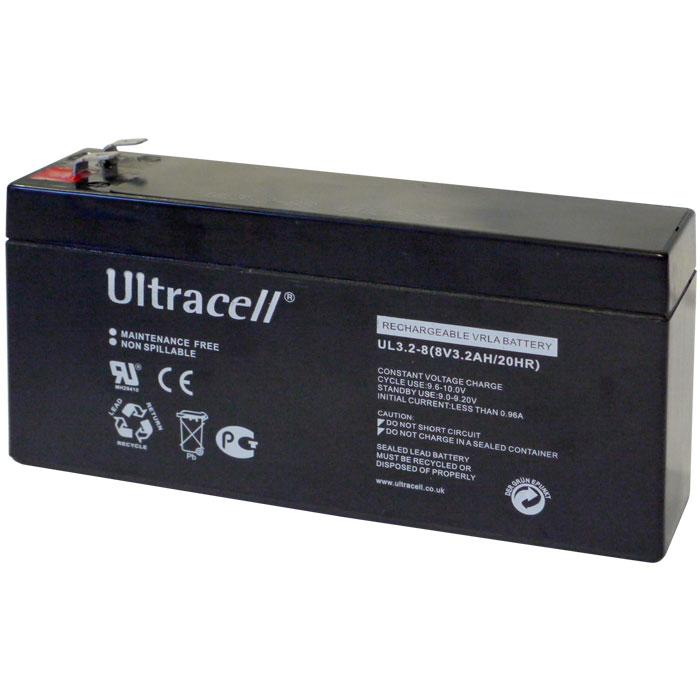 Ultracell UL3.2-8 Επαναφορτιζόμενη Μπαταρία Μολύβδου 8 Volt / 3,2 Ah