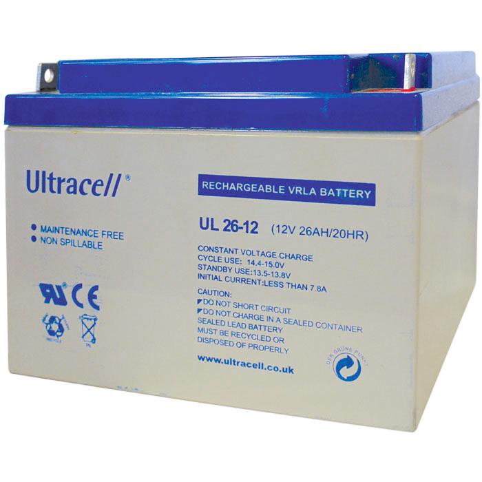 Ultracell UL26-12 Επαναφορτιζόμενη Μπαταρία Μολύβδου 12 Volt / 26 Ah