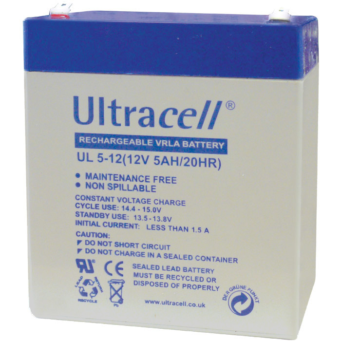 Ultracell UL5-12 (9x7x10) Επαναφορτιζόμενη Μπαταρία Μολύβδου 12 Volt / 5 Ah