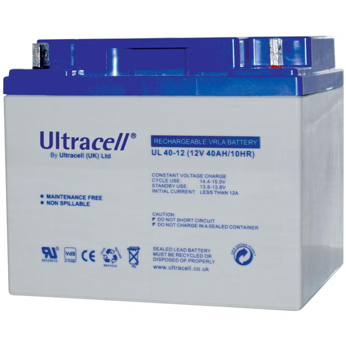 Ultracell UL40-12 Επαναφορτιζόμενη Μπαταρία Μολύβδου 12 Volt / 40 Ah