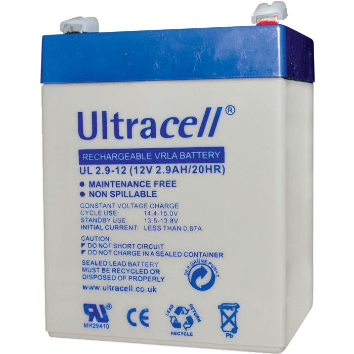 Ultracell UL2.9-12 Επαναφορτιζόμενη Μπαταρία Μολύβδου 12 Volt / 2,9 Ah