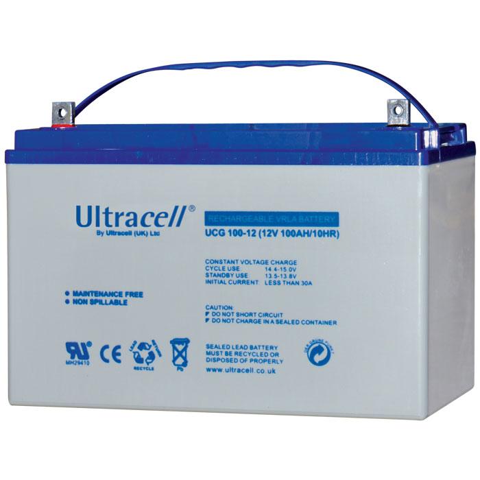 Ultracell UCG100-12 Επαναφορτιζόμενη Μπαταρία Μολύβδου 12 Volt / 100 Ah