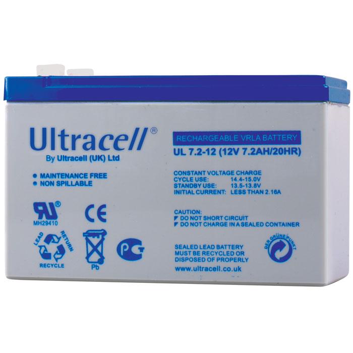 Ultracell UL7.2-12 F1 Επαναφορτιζόμενη Μπαταρία Μολύβδου 12 Volt / 7,2 Ah