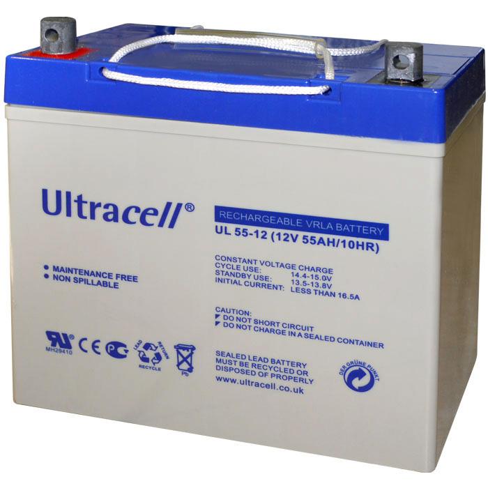Ultracell UL55-12 Επαναφορτιζόμενη Μπαταρία Μολύβδου 12 Volt / 55 Ah