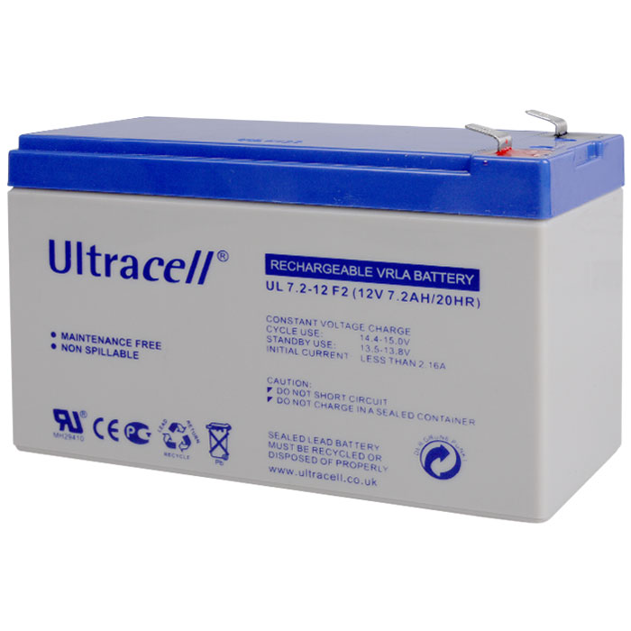 Ultracell UL7.2-12 F2 Επαναφορτιζόμενη Μπαταρία Μολύβδου 12 Volt / 7,2 Ah