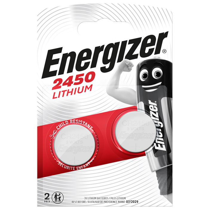 ENERGIZER CR2450/2TEM LITHIUM COIN F016502
