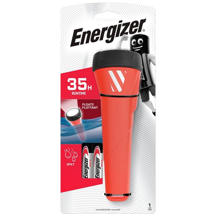 ENERGIZER WATERPROOF RED 2xAA LIGHT F081101
