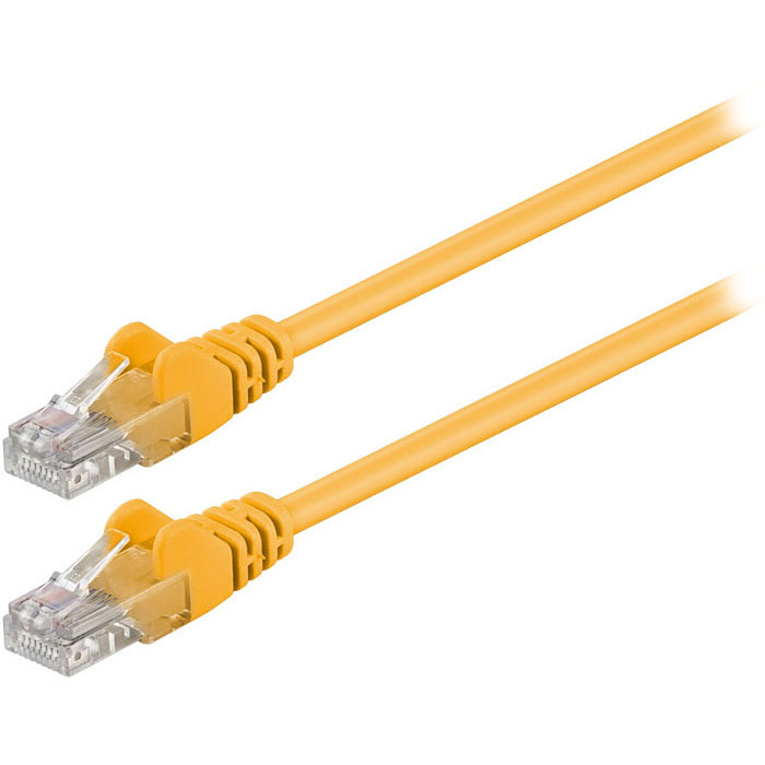 68610 CAT 5e U/UTP PATCH CABLE 0.25m YELLOW