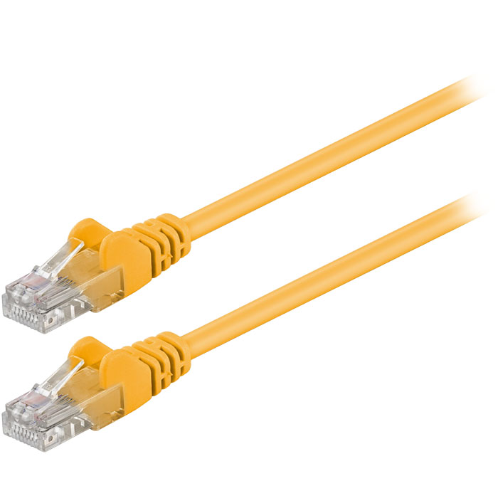 68341 CAT 5e U/UTP PATCH CABLE 1m YELLOW