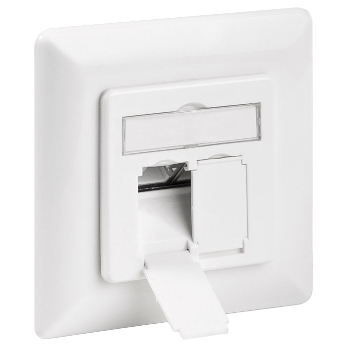 GOOBAY 68721 CAT 6a WALL PLATE FLUSH MOUNTING WHITE