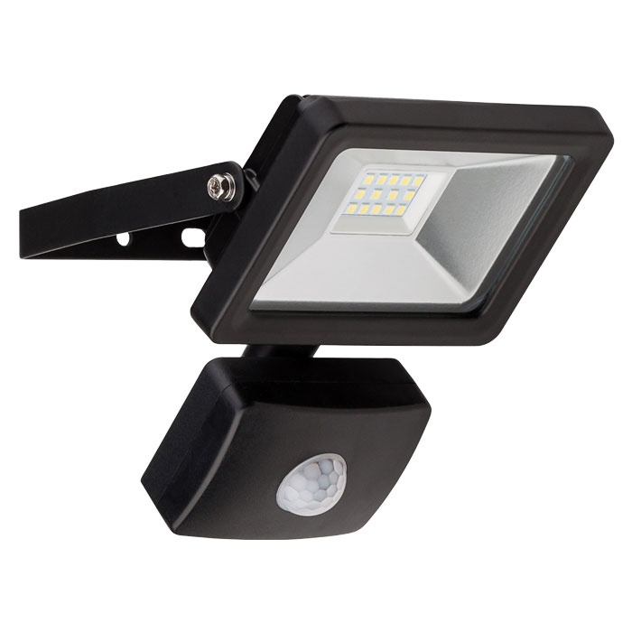 GOOBAY 58998 LED OUTDOOR FLOODLIGHT WITH MOTION SENSOR BLACK 10W 830lm
