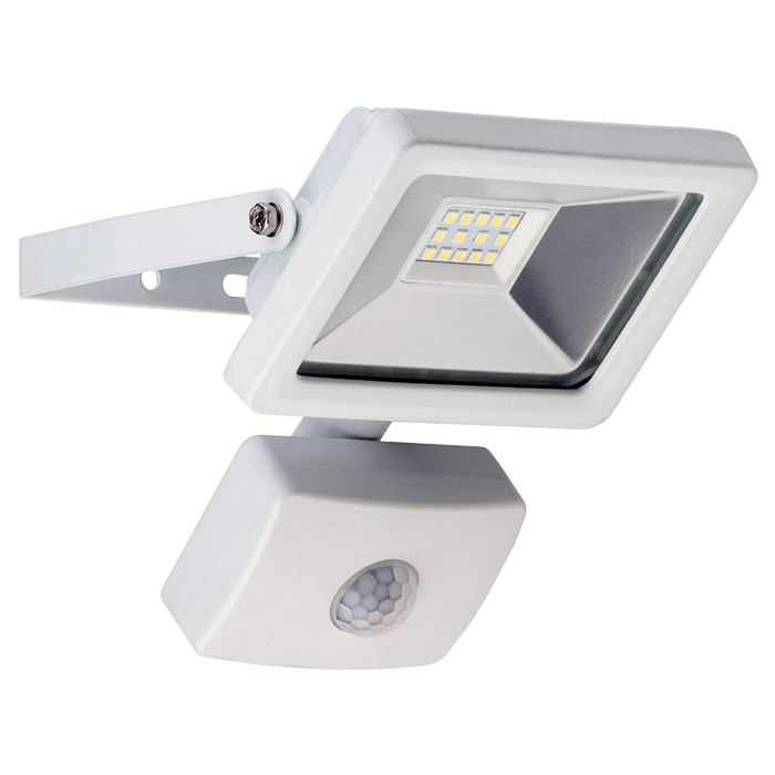 GOOBAY 59082 LED OUTDOOR FLOODLIGHT WITH MOTION SENSOR WHITE 10W 830lm