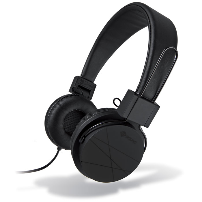 MELICONI MYSOUND SPEAK STREET BLACK ON-EAR STEREO HEADPHONE WITH MICROPHONE