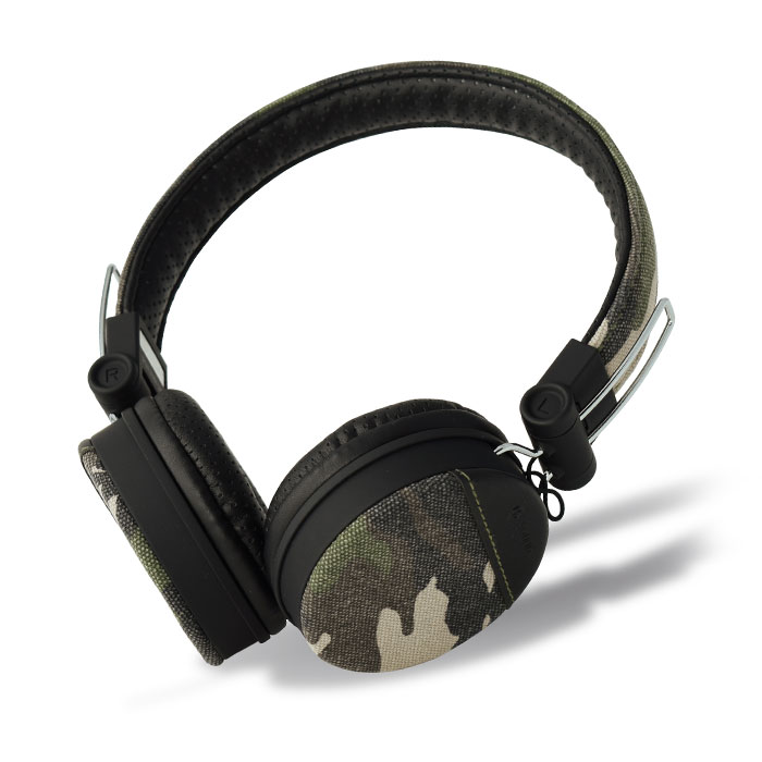 MELICONI MYSOUND SPEAK DENIM CAMOUFLAGE ON-EAR STEREO HEADPHONE WITH MICROPHONE