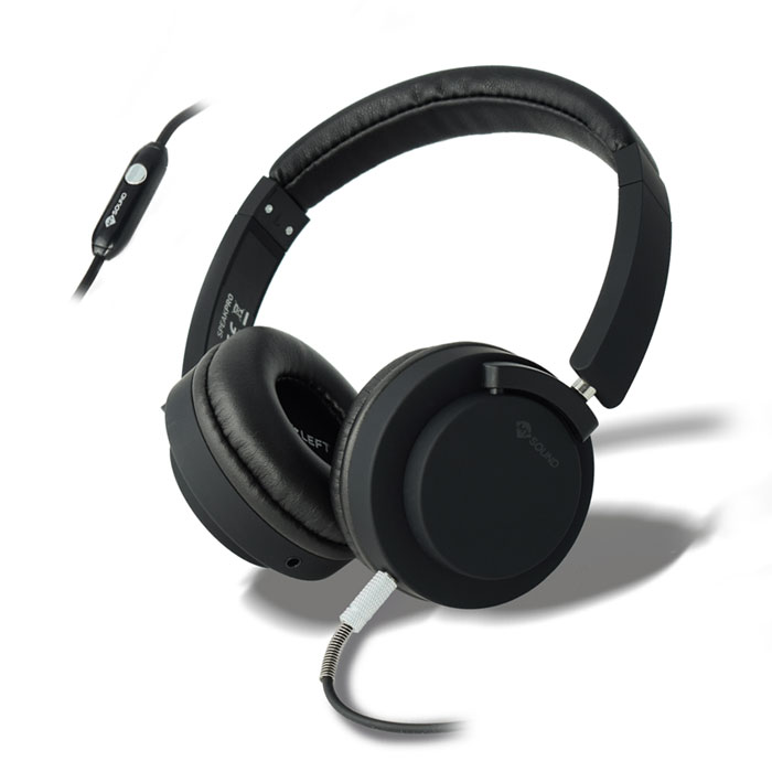 MELICONI MYSOUND SPEAK PRO BLACK ON-EAR STEREO HEADPHONE WITH MICROPHONE