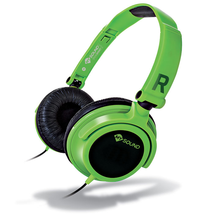 MELICONI MYSOUND SPEAK SMART FLUO GREEN-BLACK ON-EAR STEREO HEADSET WITH MICROPΗΟΝΕ