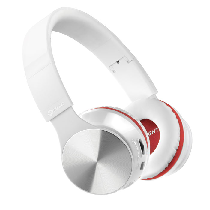 MELICONI 497459 MYSOUND SPEAK AIR WHITE/RED BT ON-EAR STEREO HEADPHONE WITH MICΡΟΠΗΟΝΕ