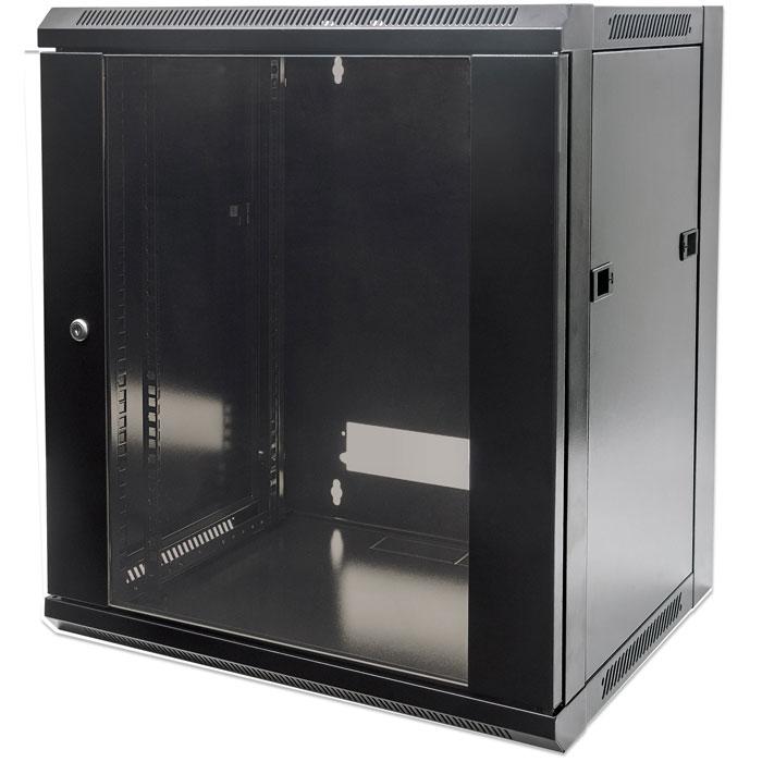 INTELLINET INT 711715 FLATPACK 19 6U (370x570x450) WALLMOUNT CABINET BLACK