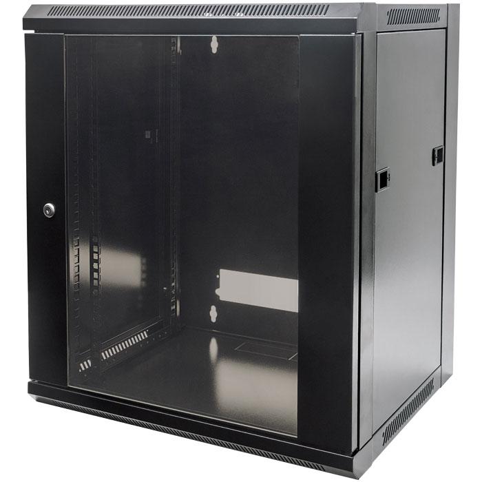 INTELLINET INT 711937 FLATPACK 19 15U (770x570x450) WALLMOUNT CABINET BLACK