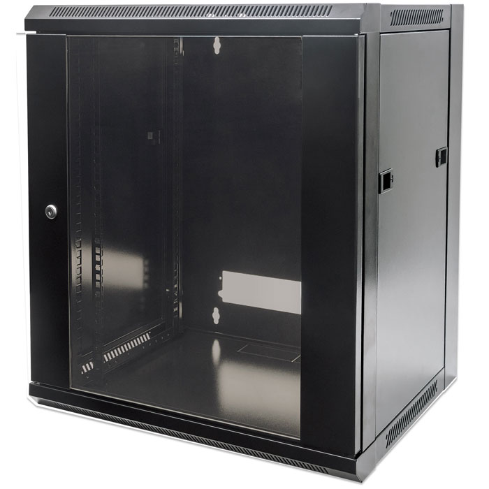 INTELLINET INT 711951 FLATPACK 19 15U (770x570x600) WALLMOUNT CABINET BLACK