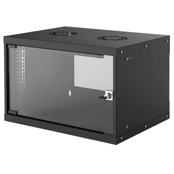 INTELLINET INT 714143 FLATPACK 19 6U (353x540x400) BASIC WALLMOUNT CABINET BLACK