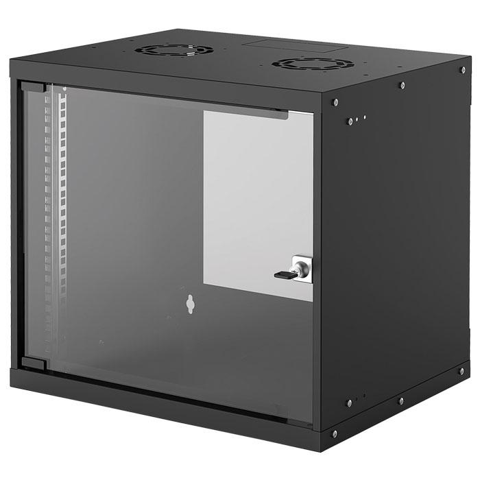 INTELLINET INT 714174 FLATPACK 19 9U (487x540x400) BASIC WALLMOUNT CABINET BLACK