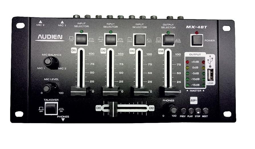 Audien MX-4BT DJ ΜΙΚΤΗΣ 4 ΚΑΝΑΛΙΩΝ