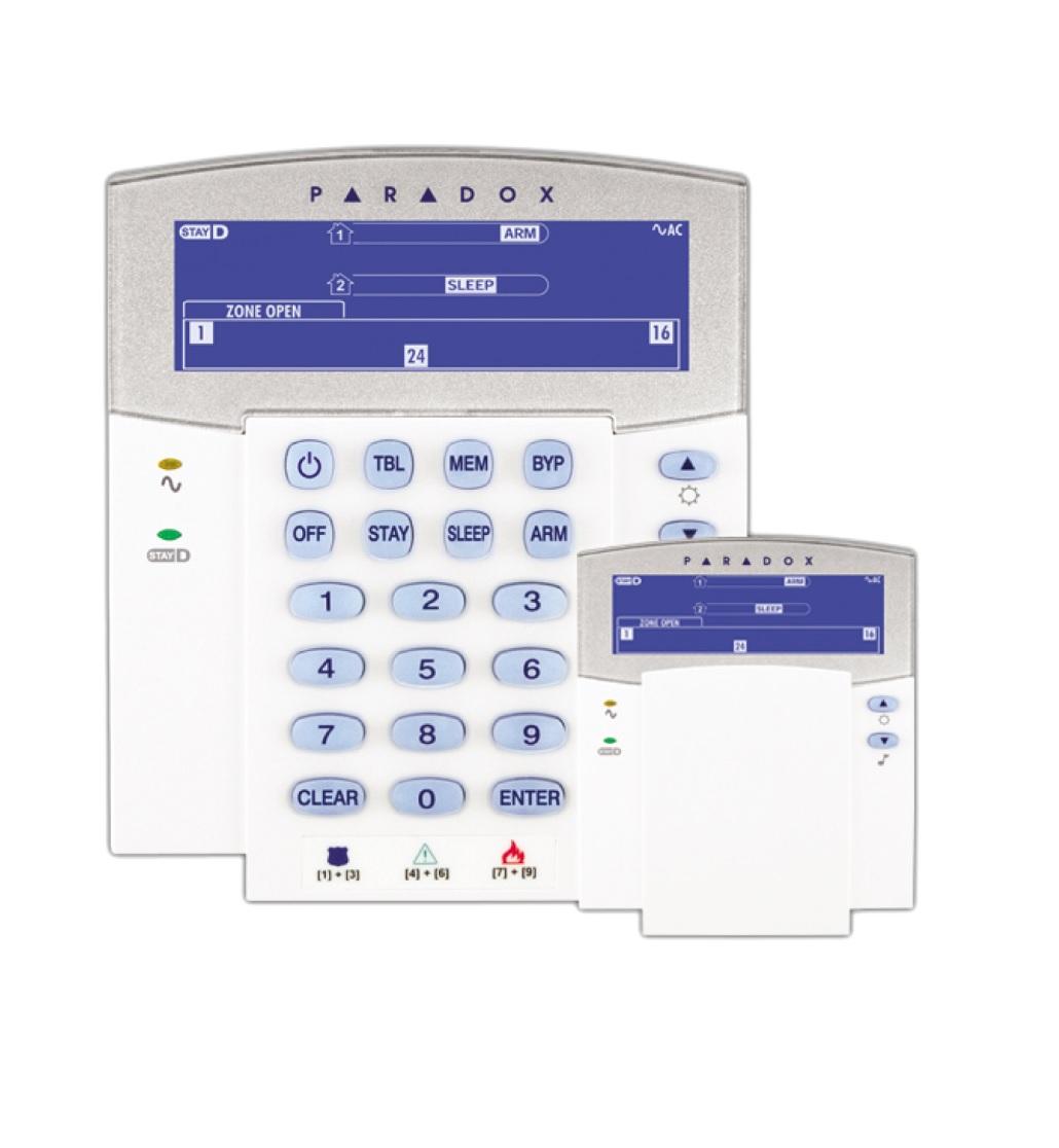 Paradox K35 Πληκτρολόγιο LCD Icon 32 Ζωνών