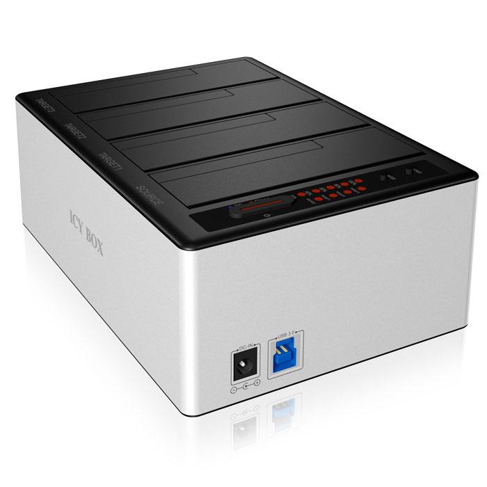 ICY BOX IB-141CL-U3 DOCKING STATION, 4x SATA 2,5/3,5 USB 3.0 ALUMINIUM / 20919