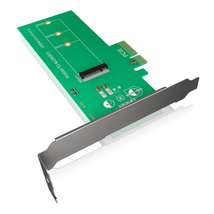 ICY BOX IB-PCI208 PCI-Card, M.2 PCIe SSD to PCIe 3.0 x4 Host   60092