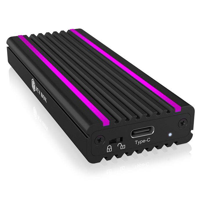 ICY BOX IB-1824ML-C31 USB Type-C Enclosure for M.2 NVMe SSD - RGB