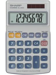 Sharp EL-250S Αριθμομηχανή Χειρός 8 ψηφίων