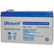 Ultracell, UL5-12L, Μπαταρία μολύβδου 12V 5A.