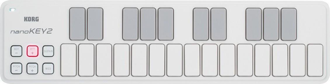 KORG NANOKEY2 SLIM-LINE USB KEYBOARD WH