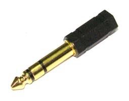 ADAPTOR 6.3mm² STEREO / 3.5mm² STEREO ΘΗΛΥΚΟ ΕΠΙΧΡΥΣΟ AU1303 UNI