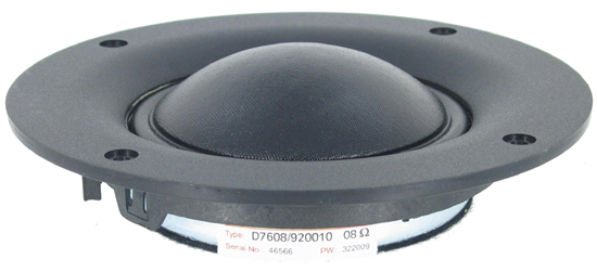 Scanspeak D7608/920010 faceplate dome midrange 92 db 8 Ohm