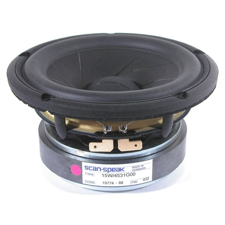 ScanSpeak 15W/4531G00 148mm  100Watt Mid/Woofer 87 db 4 Ohm