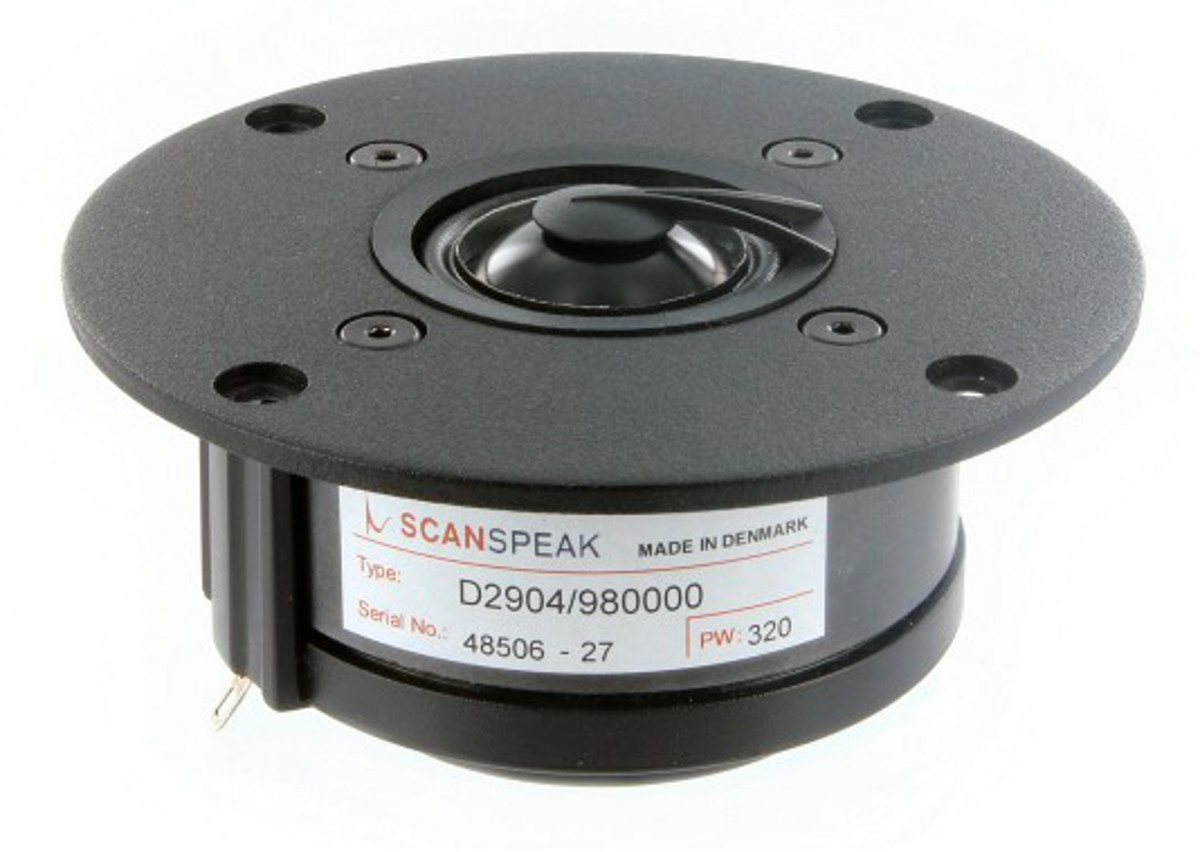 ScanSpeak D2904/980000 Aluminium Dome Tweeter 104,5 mm 160 Watt  90 db  4Ω