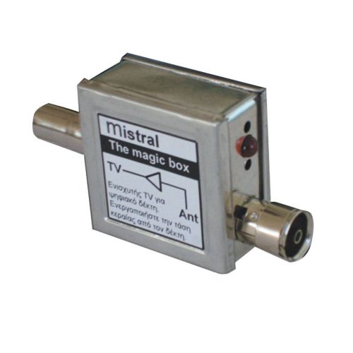 Mistral, MAGIC BOX 0119, Ενισχυτής Γραμμής για Ψηφιακούς Δέκτες 20dB με φίλτρο LTE