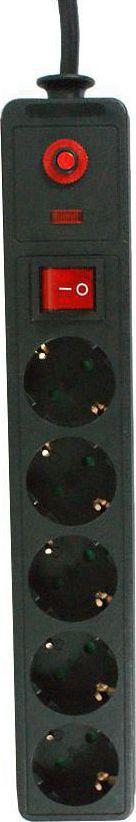 Πολύπριζο Ασφάλειας με Διακόπτη 5 Θέσεων 1.5m Power Tech PT-22