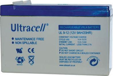 Επαναφορτιζόμενη μπαταρία μολύβδου 12V 9Ah Ultracell