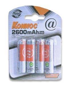 Konnoc AA.HR6 NIMH-2600mA. Επαναφορτιζόμενες μπαταρίες